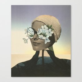 Looking the world through flower glasses. Canvas Print