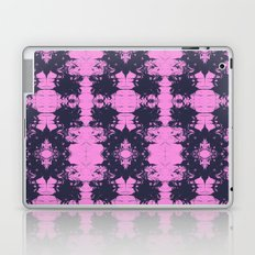 Tsuyo - spilled ink abstract painting japanese marbled paper marble marbling pink and blue art Laptop & iPad Skin