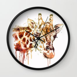 Giraffe Head Wall Clock
