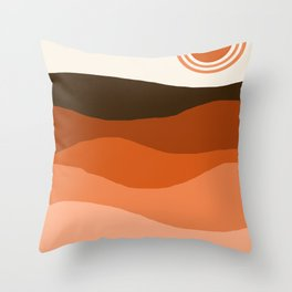 Choice - retro 70s style vibes sunset mountains desert ocean minimalist decor hipster 1970s Throw Pillow