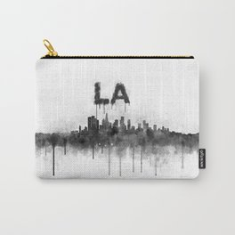 Los Angeles City Skyline HQ v5 BW Carry-All Pouch