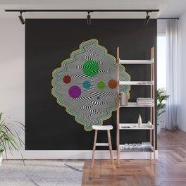 Abstract illusional waves Wall Mural