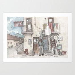 Pizzeria Oliveri Art Print