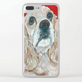 Lola the Cocker Spaniel Clear iPhone Case