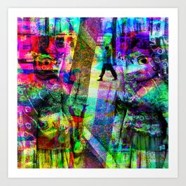 First in collusion, then inclusion; simple, innit! [RGB] Art Print