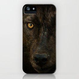 Black Wolf iPhone Case