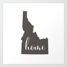 Idaho is Home Art Print