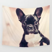 terrier Wall Tapestries featuring Terrier Dog  by Limitless Design