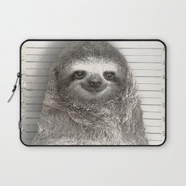 Sloth in a Mugshot Laptop Sleeve