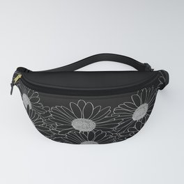 Daisy Boarder Black Fanny Pack