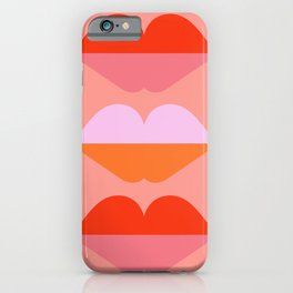 Abstraction_LOVE_KISS_Minimalism_001 iPhone Case