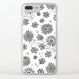 Flowers embroidery Clear iPhone Case