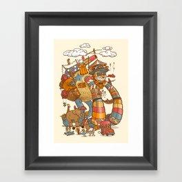 Circusbot Framed Art Print