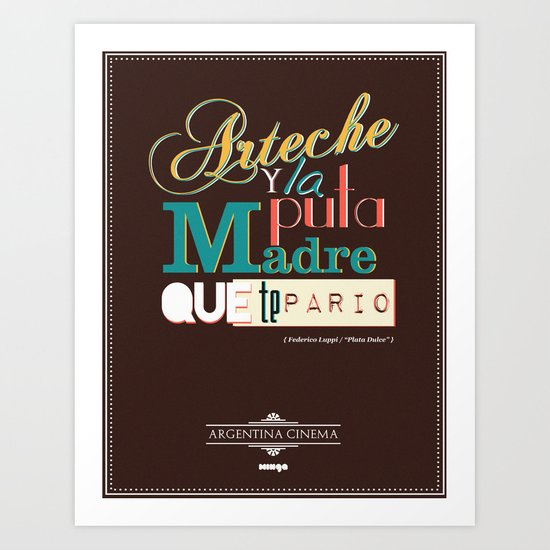 Argentina Cinema Art Print