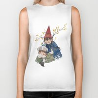 over the garden wall Biker Tanks featuring Over the garden wall by Rozenn
