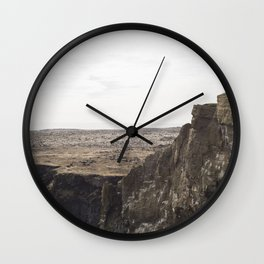 Planet West Iceland Wall Clock