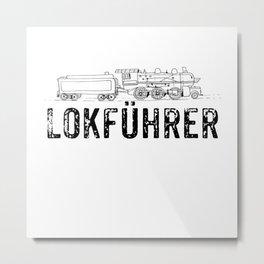 Model Train Metal Print