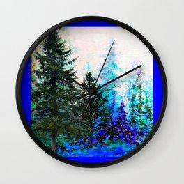 BLUE MOUNTAIN  PINE FOREST LANDSCAPE Wall Clock