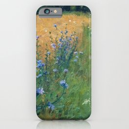 Early Morning, Tuscany, Italy floral landscape painting by Agnes Slott-Møller iPhone Case