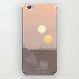 Retro Travel Poster Series - Star Wars - Tatooine iPhone Skin