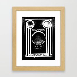 Ben-Day Kodak Brownie Camera  Framed Art Print