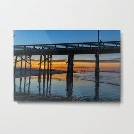 Newport Pier at Dawn Metal Print