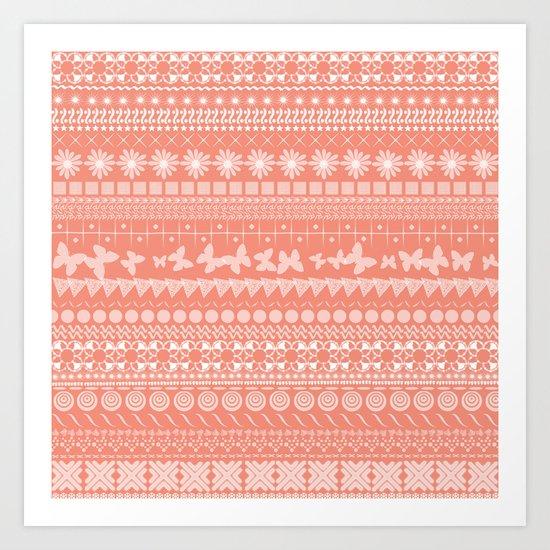 Coral-Licious Art Print