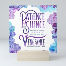 PATIENCE AND SILENCE Mini Art Print