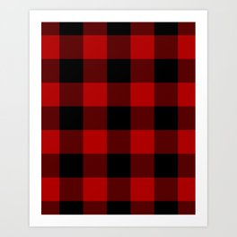 Red Buffalo Check Plaid Art Print