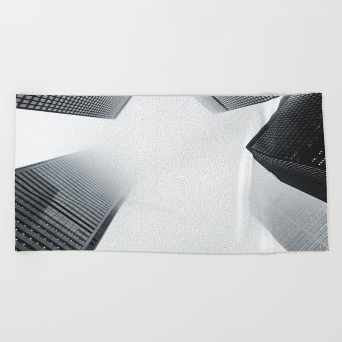 City Sky Beach Towel