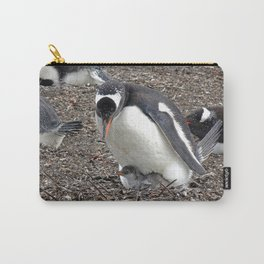 Gentoo Penguin with Chick Carry-All Pouch