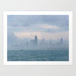 Foggy Skyline #1 Art Print