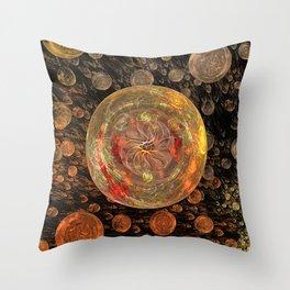 Orange Bubble Throw Pillow