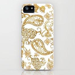India henna pattern iPhone Case