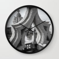architecture Wall Clocks featuring Architecture by Sébastien BOUVIER