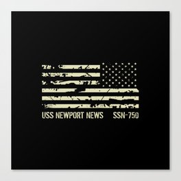 USS Newport News Canvas Print