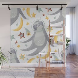 Sloth Pattern #5 Wall Mural