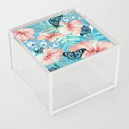 Tropical Spring Aqua Acrylic Box