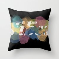 good vibes Throw Pillows featuring GOOD VIBES by Lasse Egholm