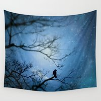 silent Wall Tapestries featuring Silent Snow by The Strange Days Of Gothicrow