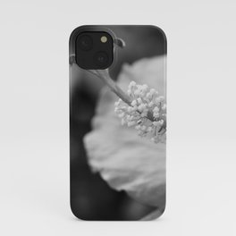 Hybiscus in Black and White iPhone Case