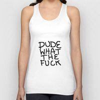 the dude Tank Tops featuring dude by Gianna's Illustrations