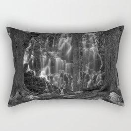 Ramona Falls in the Forest - B+W Rectangular Pillow