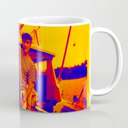 HUGH HEFNER ART POSTER FISHING CAPTAIN COOL Coffee Mug
