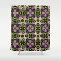poetry Shower Curtains featuring Poetry Of The Senses by Louisa Catharine Art And Patterns