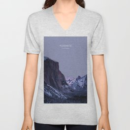 Yosemite, California Travel Artwork Unisex V-Neck