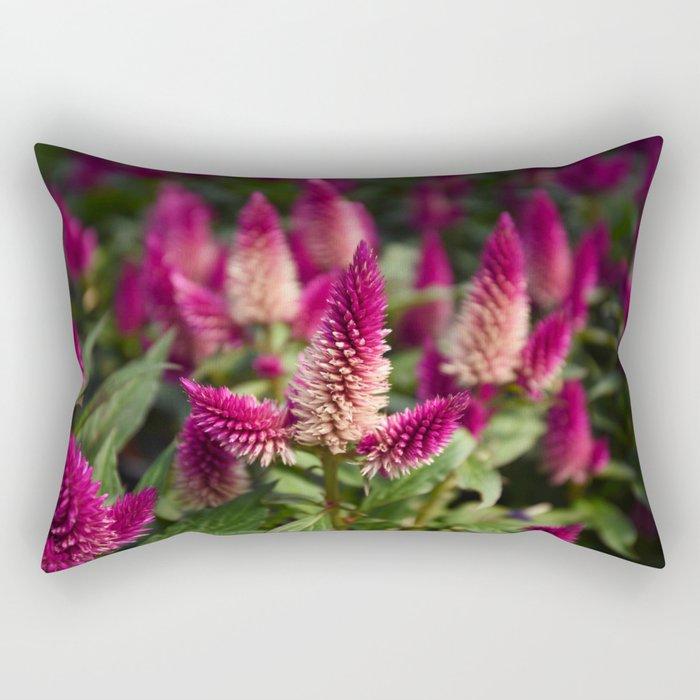 Flower Purple Meadow | Botanical | Plant Photography | Nature Rectangular Pillow