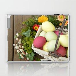Easter Eggs in Basket - Cafe or Restaurant Decor Laptop & iPad Skin