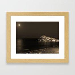 Coastal night Framed Art Print