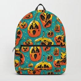 Jack o Lanterns Jackolantern jack o lantern pumpkin pattern spooky creepy fun Backpack